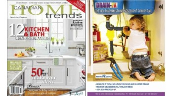 Drain-FX advertised in Canadian Home Trends Magazine